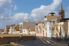 Bastione Marco Polo Alghero Sardinia Italy photo libre de droits