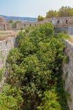 Bastionen av Ayios Nikalaos i Fortezza av Rethymno Royaltyfri Fotografi