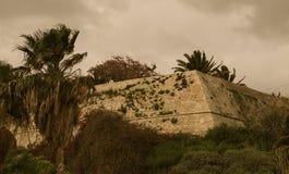 Bastioner av den Venetian väggHeraklion Kreta arkivbilder