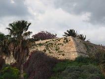 Bastioner av den Venetian väggHeraklion Kreta royaltyfri fotografi