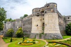 Bastioner av fästningen i Angers royaltyfri bild