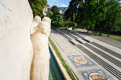 Bastiones del DES de Parc en Ginebra, Suiza Fotografía de archivo