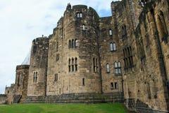 Bastioni del castello di Alnwick Fotografie Stock