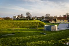 Bastioni del Kastellet, Copenhaghen, Danimarca fotografie stock