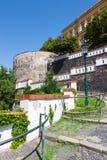 Bastioni, Litomerice, Boemia, repubblica Ceca Immagine Stock