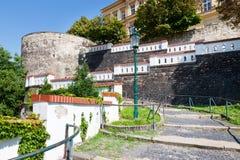 Bastioni, Litomerice, Boemia, repubblica Ceca Fotografia Stock Libera da Diritti