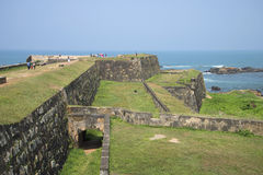 On the bastions of the fortress Galle Royalty Free Stock Photos