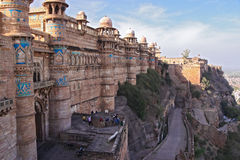 Bastions of Gwalior Fort, Gwalior, Madhya, India Stock Photos