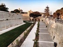 Bastions. Old city walls surrounding Mdina Stock Photography