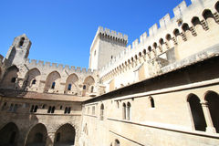 Bastions  of the Palace of the Popes Stock Photography