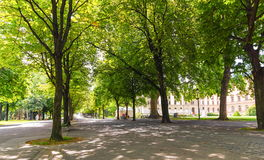 Bastions park, Geneva, Switzerland. Bastions park in summer with beautiful big trees, Geneva, Switzerland Stock Photos
