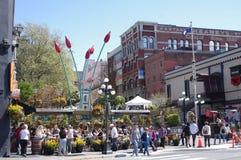 Bastions-Quadrat, ein historisches Fußgängermall in Victoria, lizenzfreie stockfotografie