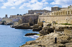 Bastions, Valletta Harbor, Malta royalty free stock images