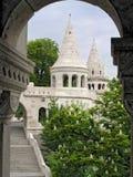 bastionu Budapest połów Hungary zdjęcie royalty free
