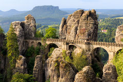 Bastionu most w Saxonia blisko Drezdeńskiego Obraz Royalty Free