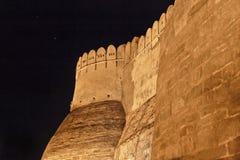 Bastiony Kumbhalghar Fort przy noc zdjęcia stock
