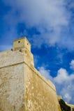 Bastiony przy cytadelą Gozo fotografia stock