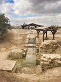 Bastism站点是拿撒勒耶酥由约翰施洗Baptis的地方 免版税库存照片