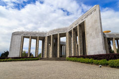 Bastogne war memorial. The Mardasson war memorial in Bastogne, Belgium, where the battle of bulge of fought in the second world war royalty free stock photography