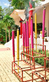 Bastoncini d'incenso variopinti giganti Fotografie Stock