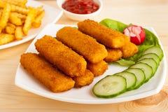 Bastoncini di pesce Immagine Stock