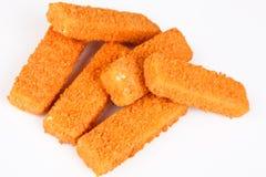 Bastoncini di pesci congelati Immagine Stock