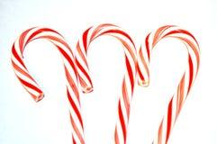 Bastoncini di zucchero a strisce rossi e bianchi fotografia stock