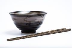 Bastoncini e ciotola di stile giapponese Immagine Stock Libera da Diritti