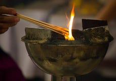 bastoncino d'incenso Fotografia Stock