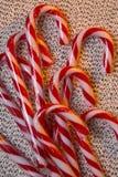 Bastoncino di zucchero - bastone della menta piperita Fotografia Stock