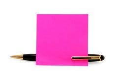 Bastone in bianco della carta da lettere su una penna Immagine Stock