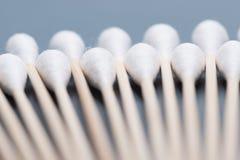 Bastone del germoglio del cotone o tampone di cotone di legno Immagine Stock
