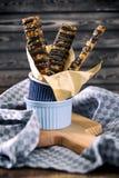 Bastone del pane al cioccolato fotografia stock
