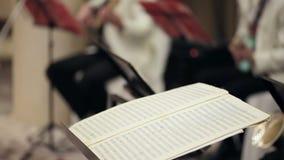 Bastone del ` s del conduttore di concerto Note dei turs del conduttore archivi video