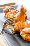 Bastone del tamburo dell'ala di pollo del barbecue Fotografia Stock