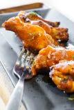 Bastone del tamburo dell'ala di pollo del barbecue Fotografia Stock Libera da Diritti