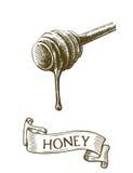 Bastone di Dipper con il miele della sgocciolatura illustrazione vettoriale