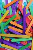 Bastone di legno del gelato Fotografie Stock