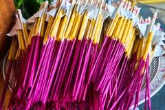 Bastone e candele di incenso Fotografia Stock