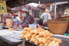 Bastone fritto in grasso bollente della pasta (Patongko) Fotografia Stock Libera da Diritti
