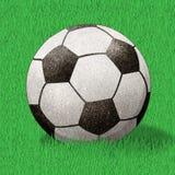 Bastone riciclato gioco del calcio del mestiere di carta Fotografia Stock