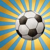 Bastone riciclato gioco del calcio del mestiere di carta Fotografia Stock Libera da Diritti