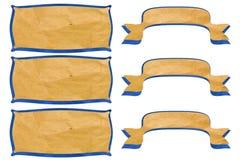 Bastone riciclato modifica del mestiere di carta di colloquio della bolla. Immagine Stock Libera da Diritti