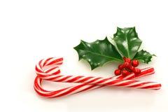 Bastones de caramelo de la Navidad Foto de archivo libre de regalías