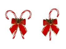 Bastones de caramelo de la Navidad Foto de archivo