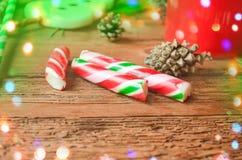 Bastones de caramelo de la Navidad Fotografía de archivo libre de regalías