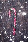 Bastones de caramelo rayados de la Navidad Imagen de archivo libre de regalías
