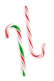 Bastones de caramelo tradicionales de la Navidad Fotos de archivo