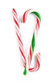 Bastones de caramelo tradicionales de la Navidad Imagenes de archivo