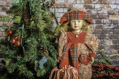 Bastones del árbol de navidad y de caramelo Fotografía de archivo libre de regalías